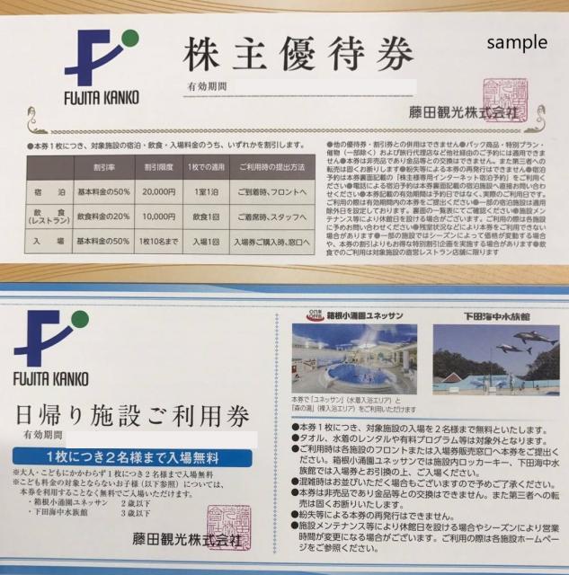 藤田観光 株主優待券(12枚セット)