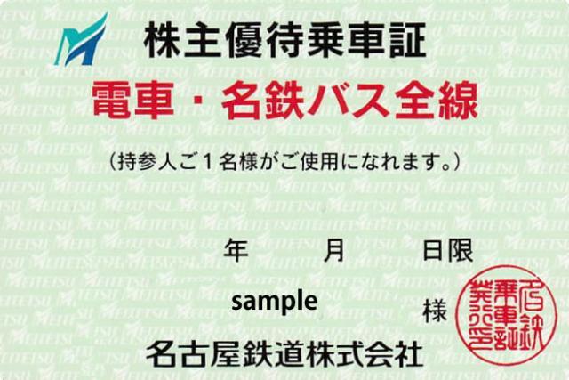 名鉄電車/名古屋鉄道 株主優待乗車証